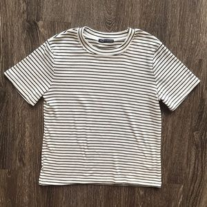 NWOT Brandy & Melville Striped Short Sleev…